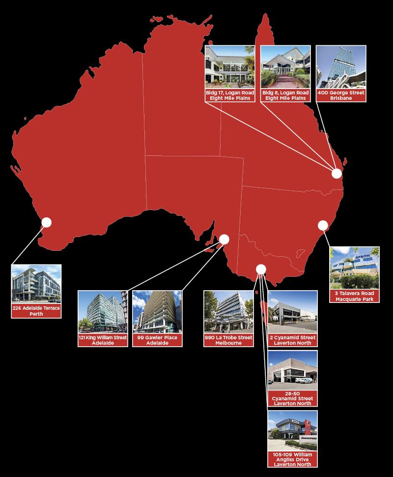MAC Properties location map